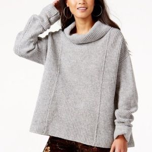 Free People Sidewinder wool cowl neck sweater COZY